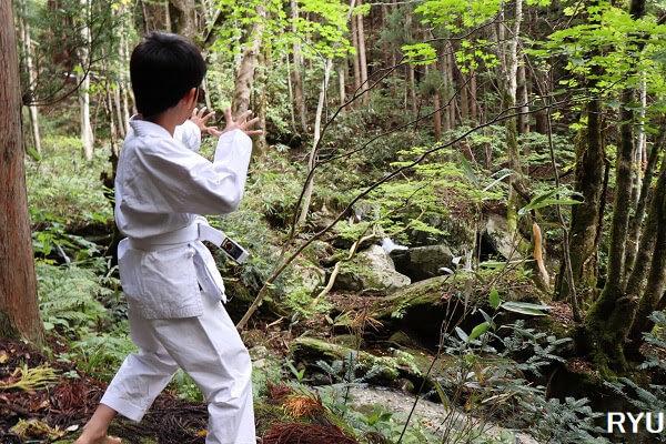 岩井滝(岡山県鏡野町・旧:上齋原村)の遊歩道