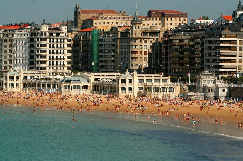 La Concha Beach(San Sebastian - Donostia, Spain)スペイン:ラ コンチャ海岸