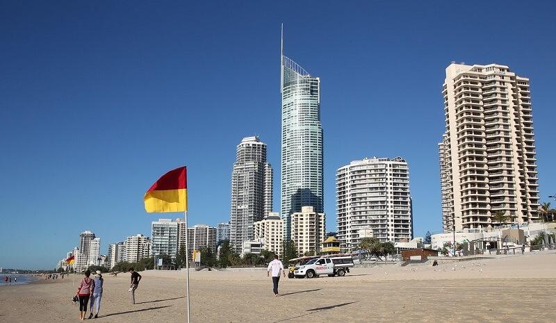 オーストラリア:サーファーズ パラダイス ビーチSurfers Paradise Beach(Surfers Paradise, Australia)