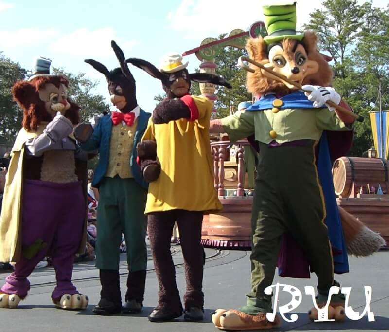 ピノキオのHonest John(正直者のジョン)とGideon(ギデオン)