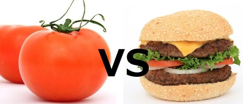 tomato VS hamburger(トマト対バーガー)