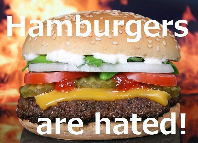 Hamburgers are hated(ハンバーガーは嫌われている)