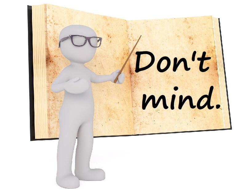 「Don't mind」の使い方